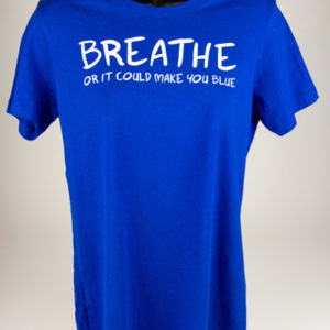 Blue Breathe Shirts Womens