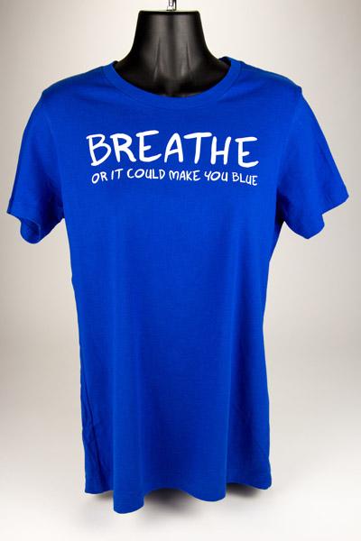 Blue Breathe Shirts Womens