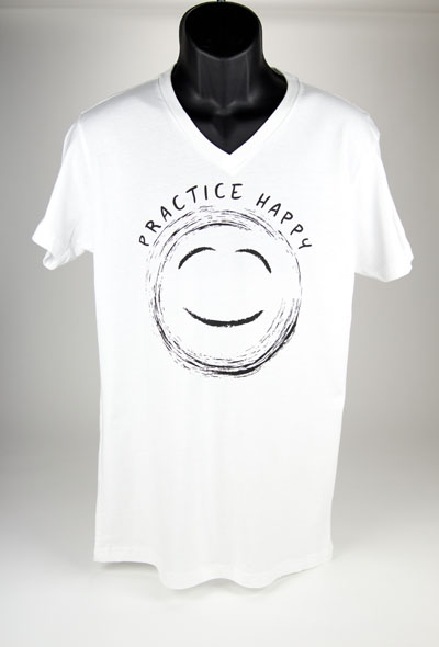 White Practice Happy TShirt