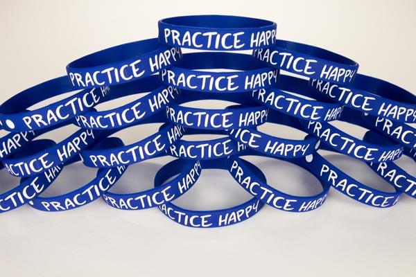 Wristbands Practice Happy